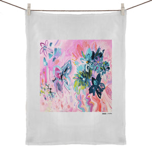 """Flower Market"" Tea Towel 