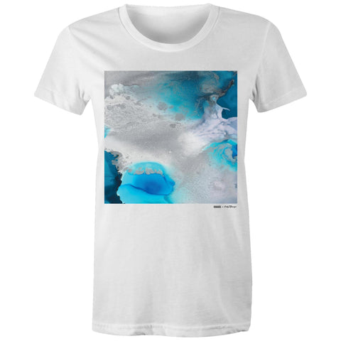 "Women's Organic ""Stormy Waters"" Tee 