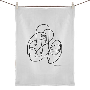 """Tribe"" Tea Towel  