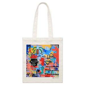 """Far Away From What Is Home"" Parcel Canvas Tote Bag 