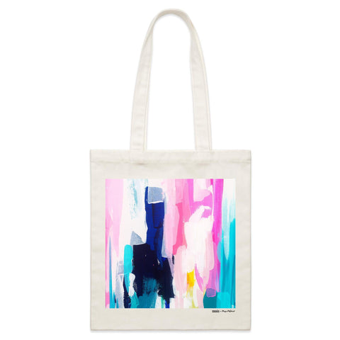 """Garden of Enid II"" Parcel Canvas Tote Bag 