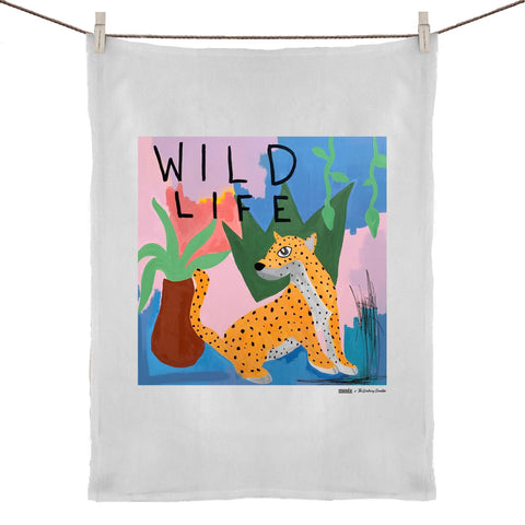 """Wild Life"" Tea Towel  