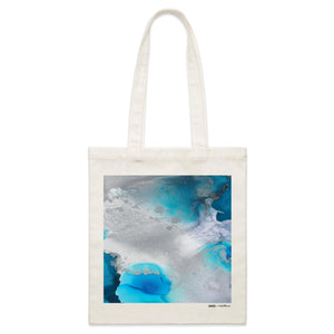 """Stormy Waters"" Parcel Canvas Tote Bag 