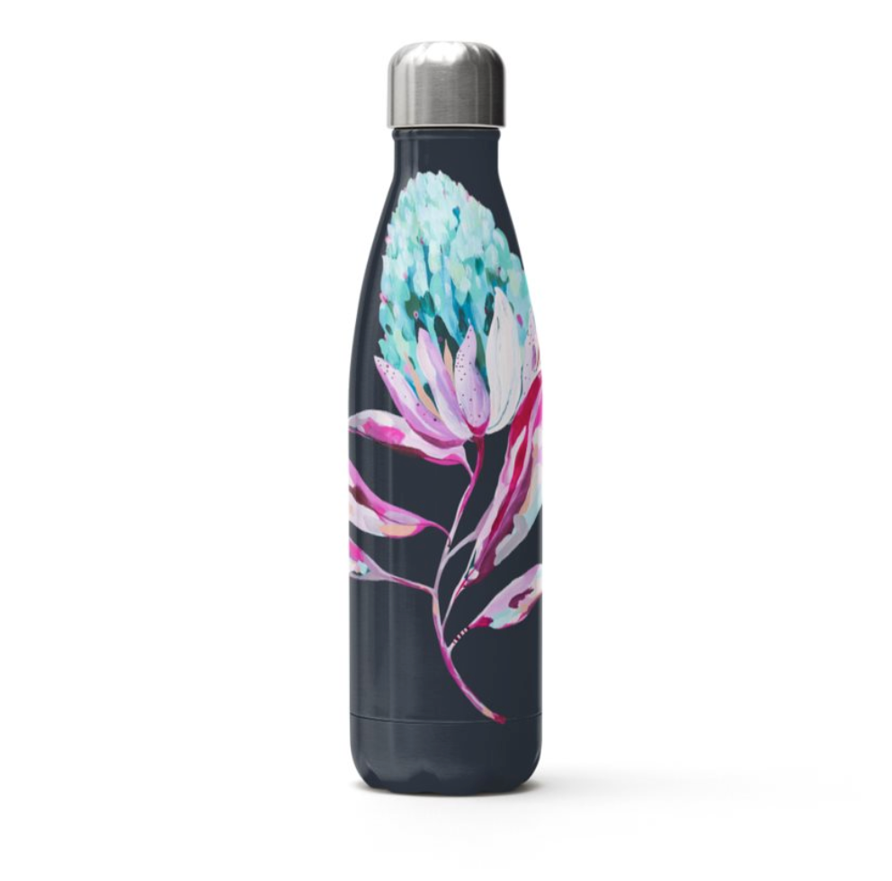 Stainless Steel Water Bottle | Musée x Simone Linehan