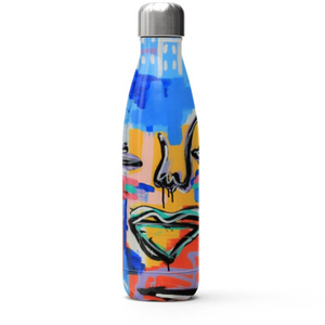 Stainless Steel Water Bottle | Far Away From What is Home | Musée x The Walking Creative PRE ORDER