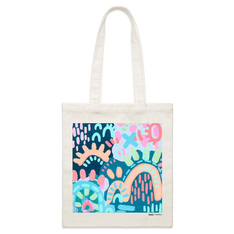 """Winter Time"" Parcel Canvas Tote Bag 