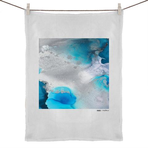 """Stormy Waters"" Tea Towel 