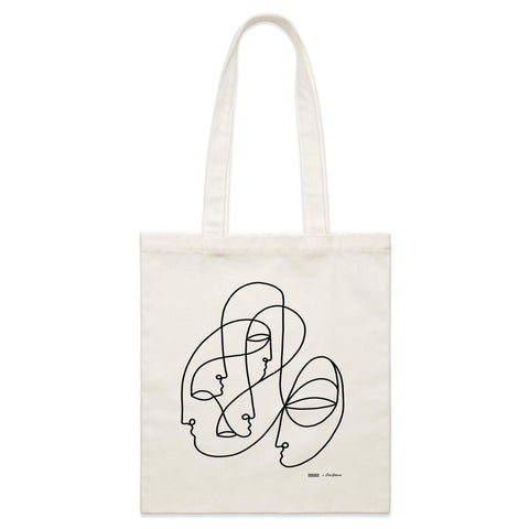 """Tribe"" Parcel Canvas Tote Bag 