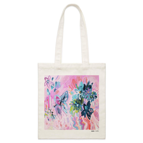 "'Flower Market"" Parcel Canvas Tote Bag 