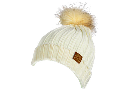 Winter Faux Fur Beanie White