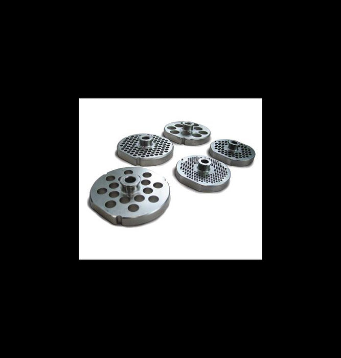 Omcan #52 STAINLESS STEEL MACHINE PLATE for Meat Grinder - FoodEquipmentDirect