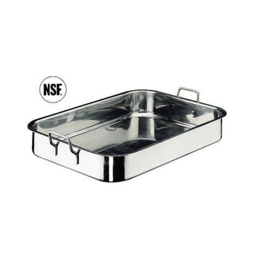 Paderno World Cuisine Stainless Steel Roasting Pan, - FoodEquipmentDirect