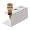 "41472-01 Stainless Steel Ice Cream Cone Holder, Dia 3 3/4x W 3 3/4"" x L 7 7/8"" x H 3 3/8"""