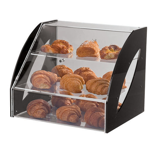"Paderno World Cuisine 41472-32 Three-Tier Plexiglas Doughnut Display, W 14 1/2"" x L 23 5/8"" x H 14 1/8"" - FoodEquipmentDirect"