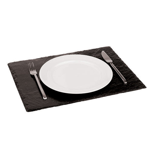 "Paderno World Cuisine 41585-45 Rectangular Natural Slate Tray, L 17 7/8"" x W 11 "" x H 1"" - FoodEquipmentDirect"