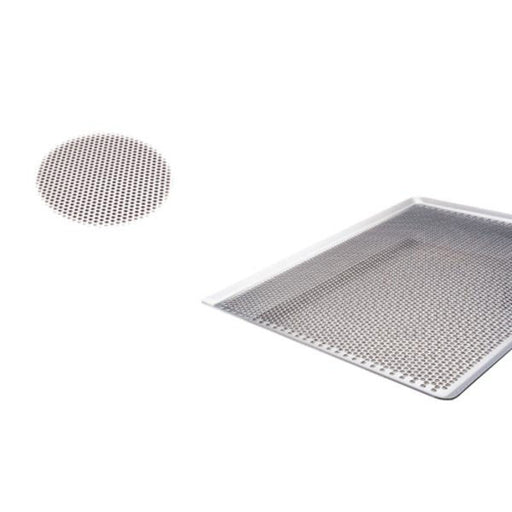 "Paderno World Cuisine 41756-60 Perforated Aluminum Baking Sheet, 45 degree, L 23 5/8"" x W 15.75"""