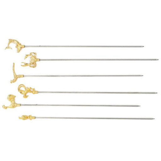 "Paderno World Cuisine 42529-06 Decorative Skewers, Set of 6, L 11 7/8"" - FoodEquipmentDirect"