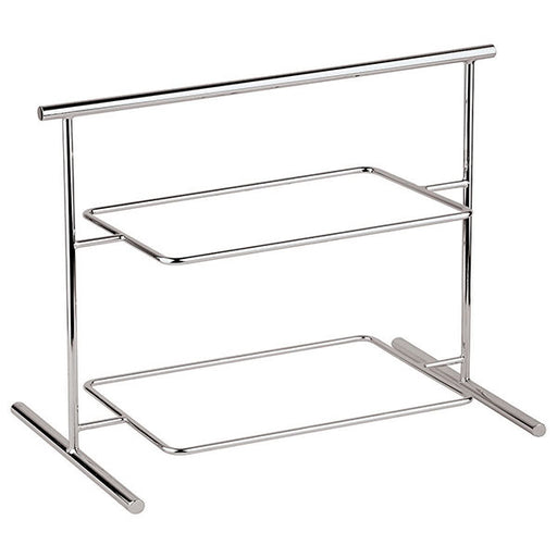 "Paderno World Cuisine 44840-04 Two-tier Chromed Steel Stand, L 24 7/8"" x W 10 5/8"" x H 17 1/2"""