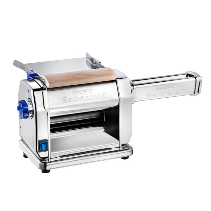 "<img src=""https://cdn.shopify.com/s/files/1/0084/6109/0875/products/46292_Pasta-Sheeter_With-cutter.jpg?v=1581517369"" alt=""Imperia Restaurant Pasta Sheeter Electric Model New Style 2019"">"