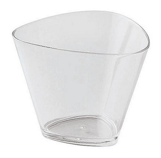 "Paderno World Cuisine 48353-01 Disposable Triangular Glasses, Pack of 100, H 2 1/2"" x L 3 3/8"" x W 3 3/8"" - FoodEquipmentDirect"