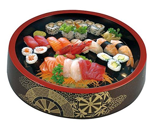 "Paderno World Cuisine 49655-21 Chirashi Serving Dish, Dia 8 1/2"" x H 2"" - FoodEquipmentDirect"