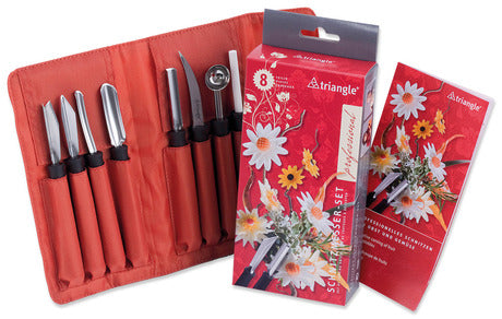 Triangle 9081808 Stainless Steel Carving Tool Set