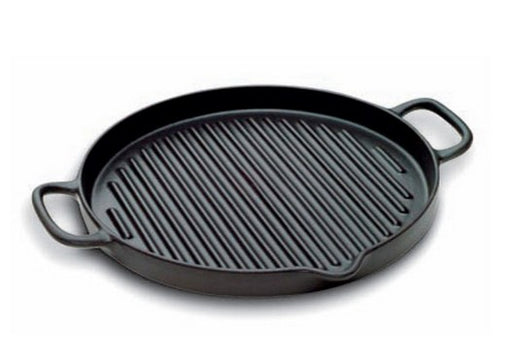"Paderno World Cuisine A1733726 Round Cast-Iron Grill, Dia 10 1/4"" x H 1"" - FoodEquipmentDirect"