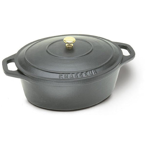Paderno World Cuisine Black Oval Dutch Oven - FoodEquipmentDirect