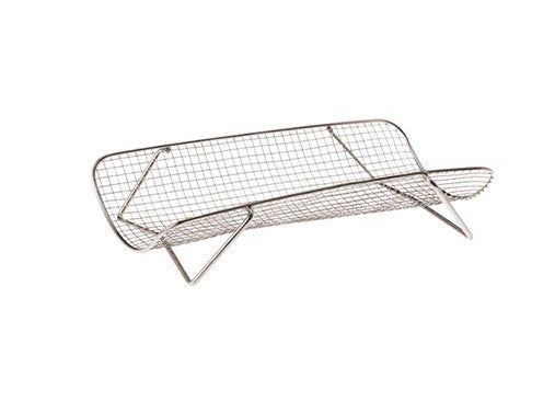 "Paderno World Cuisine A4982141 Stainless Steel Roasting Rack, W 8 1/2"" x L 15"" x H 3 1/4"" - FoodEquipmentDirect"