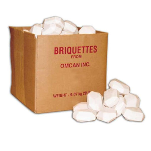 Omcan BR20 (10050) Briquettes 20 lbs./case - FoodEquipmentDirect