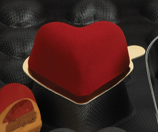 Demarle Flexipan - Rounded Hearts Flexible Molds FP 1073 - Vol. 2.74 oz (81 ml) - FoodEquipmentDirect