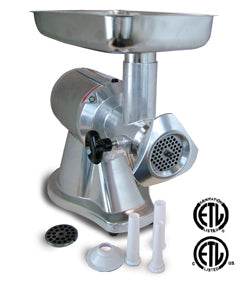 Omcan Electric Meat Grinder, Reverse Switch - FoodEquipmentDirect