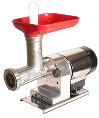 Omcan Electric Meat Grinder, Polished aluminum Body - FoodEquipmentDirect