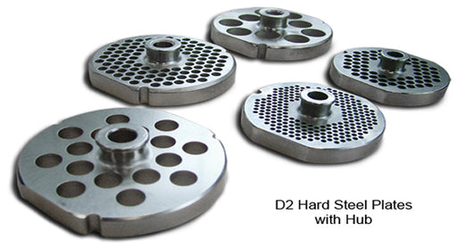 Omcan D2 Hard Steel Machine Plates with Hub - FoodEquipmentDirect