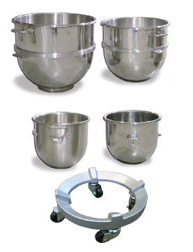 Omcan Stainless Steel - Mixer Bowls & Dolly