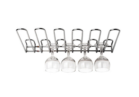 Tellier NC018D Wall Mounted Glass Rack, (17.7W x 2H x 12.2L) - FoodEquipmentDirect