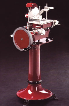 Omcan Volano Meat Slicer, Fully Hand-Operated, Manual Feed,Built-In Blade Sharpener, Protection Ring Around Blade