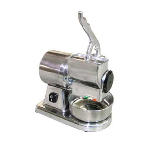 Omcan Cheese Grater, Cast Iron Grater Drum, Stainless Steel Basin & Hopper - FoodEquipmentDirect