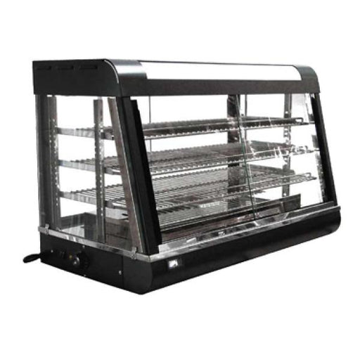 Omcan Display Warmer, Adjustable Trays, Glass On All Sides - FoodEquipmentDirect