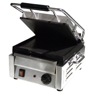 Omcan Sandwich Grill Single & Double, Flat Top & Bottom Grilling Surface - FoodEquipmentDirect