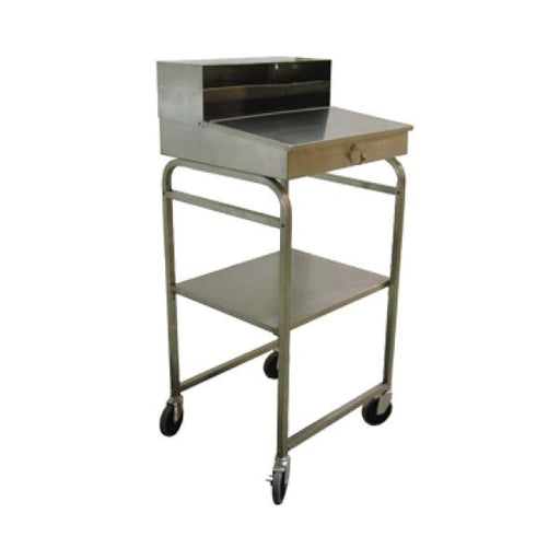 Omcan RDM (13511) Mobile Receiving Desk, Locking Storage Compartment, Stainless Steel