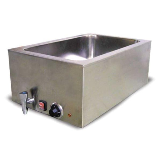 Omcan SB9000 (19076) Food Warmer, Two 1/2 Size Pans or One Full Size Pan - FoodEquipmentDirect