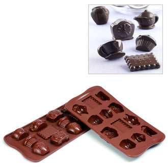 Silikomart SCG17 Tea Time Chocolate Mold, Make 12 Pieces From 0.17 to 0.34 oz
