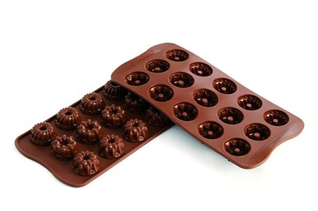 "Silikomart SCG19 Fantasia chocolate mold, (H 0.59"" )"