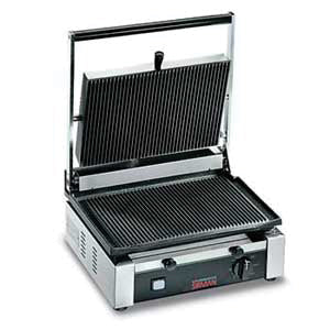 "Omcan SG301 (11377) Sandwich Grill, 10"" x 14"" Grill Surface, 15 Amps - FoodEquipmentDirect"