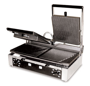 "Omcan SG501 (11378) Double Sandwich Grill, 10"" x 19"" Grill Surface, 13 Amps - FoodEquipmentDirect"