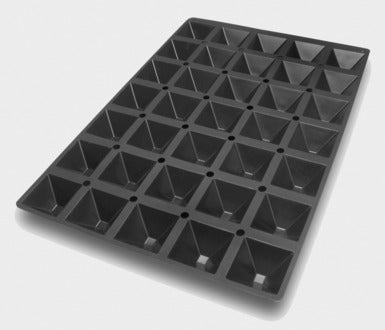 Silikomart SQ010 Pyramids Mold, Make 35 Pieces 2.02 oz. Per Quantity