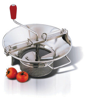 Tellier Tin Plated Food Mill & Grids - FoodEquipmentDirect