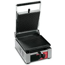 "Sirman ELIO Small Panini Grill, (11.4"" W x 9.3"" H x15.4"" L) - FoodEquipmentDirect"