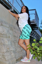 Load image into Gallery viewer, Teal NM Biker Shorts - Noir Masae
